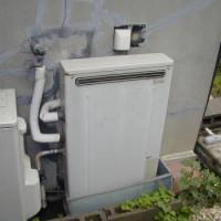 冠水しやすい設置のふろ給湯器
